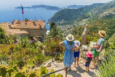 FRA11739AW Eze, Alpes-Maritimes, Provence-Alpes-Cote D'Azur, French Riviera, France