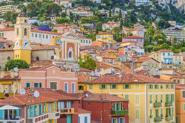 FRA11747AW Villefrance Sur Mer, Provence Alpes Cote d azur, French Riviera, France.