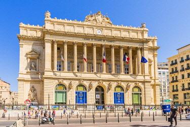 FRA11750AW The Palais de la Bourse, Marseille, Provence Alpes Cote d'Azur, Provence France