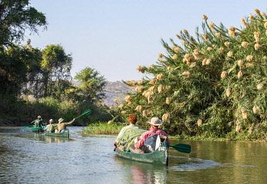 ZIM2789 Mana Pools, Zimbabwe, Africa.  A canoeing safari on the Lower Zambesi River
