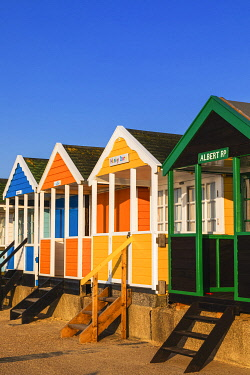 TPX71953 England, Suffolk, Southwold, Colourful Beach Huts