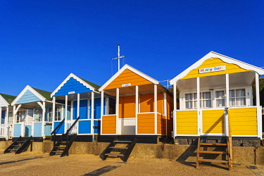 TPX71966 England, Suffolk, Southwold, Colourful Beach Huts