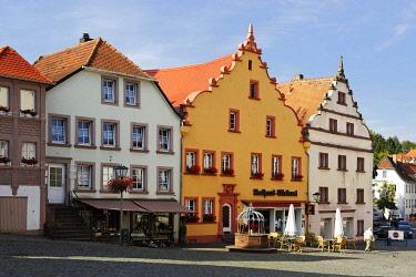 IBLDWB01483258 Rathausplatz, town hall square, Ottweiler, Saarland, Germany, Europe