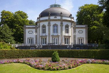 IBLDWH04233267 Theater in the park, the spa gardens, Bad Oeynhausen, Weser Uplands, North Rhine-Westphalia, Germany, Europe