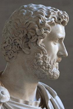 IBLMZC04312604 Bust of Antoninus Pius, Roman emperor, Glyptothek, K�nigsplatz, Munich, Bavaria, Germany, Europe