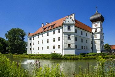 IBLRAI04020332 Schloss Hohenkammer castle, Hohenkammer, Upper Bavaria, Bavaria, Germany, Europe