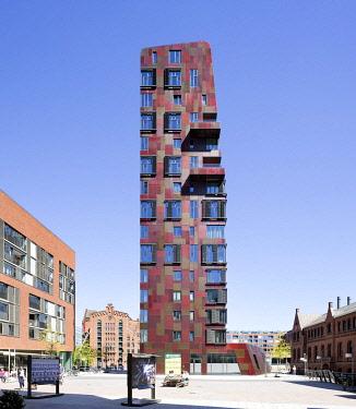 IBLRBB05029010 Residential Tower Cinnamon Tower, �berseequartier, Hafencity, Hamburg, Germany, Europe