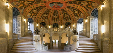 IBLRFI05052206 Staircase in the city hall, Panorama, Dresden, Saxony, Germany, Europe