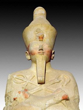 IBLUSK03574217 Osiris statue at Hatshepsut's Temple, Deir el-Bahari, Luxor, Luxor Governorate, Egypt, Africa