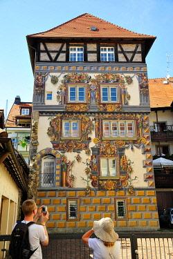 IBLUTA04237306 Residential tower Zum Goldenen Löwen, historic centre, Konstanz, Baden-Württemberg, Germany, Europe