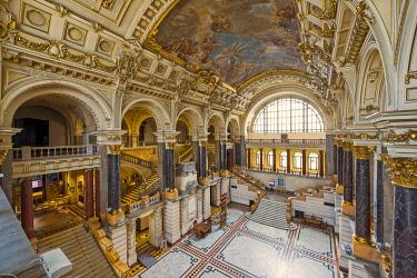 IBLRFI05046843 Ethnographic Museum, Interior, Budapest, Hungary, Europe