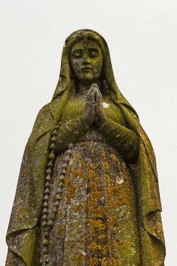 IBLSRF03082778 Statue of a woman in prayer, Rock of Cashel, Cashel, County Tipperary, Ireland, Europe