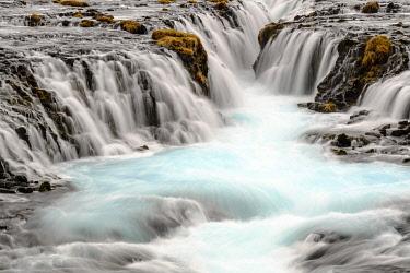IBXHEB04509959 Bruarfoss Waterfall in winter, Southern Region, Iceland, Europe