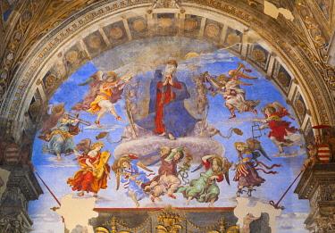 IBLBDN03243367 The Assumption of Our Lady, Carafa Chapel, Filippino Lippi, 1457-1504, fresco, Basilica of Saint Mary above Minerva, Santa Maria sopra Minerva, Rome, Lazio, Italy, Europe