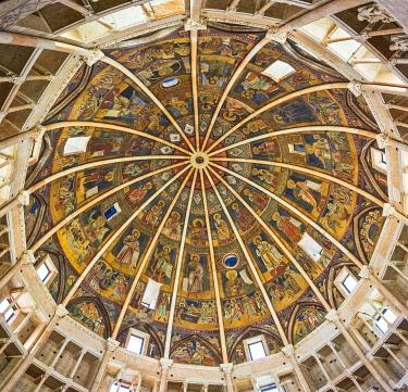 IBLHAN04232160 Baptistery interior, Parma, Emilia-Romagna, Italy, Europe