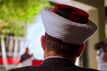 IBLWEY03158955 Headdress of a Sunni cleric, mufti, Beirut, Lebanon, Asia