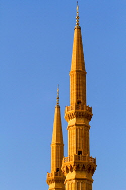 IBLWEY03159025 Minarets of the Mohammed al-Amin Mosque, Beirut, Lebanon, Asia