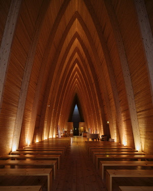 FIN1135AW Interior of St. Henry's Ecumencial Art Chapel, Turku, Finland
