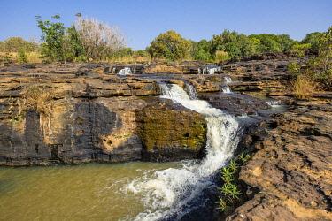 HMS3231484 Burkina Faso, Banfora, Cascades region and Comoe province, Karfiguela waterfalls or Banfora waterfalls along Comoe river