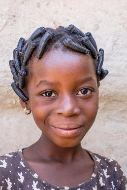 HMS3238445 Burkina Faso, Sud-Ouest region, Gaoua, capital of Poni province, child portrait