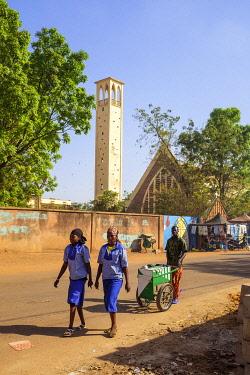 HMS3238497 Burkina Faso, Centre region, Ouagadougou, Dapoya church