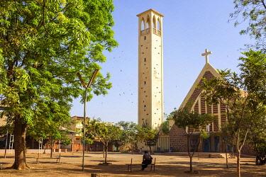 HMS3238498 Burkina Faso, Centre region, Ouagadougou, Dapoya church