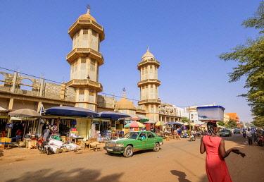 HMS3238515 Burkina Faso, Centre region, Ouagadougou, downtown, the great mosque