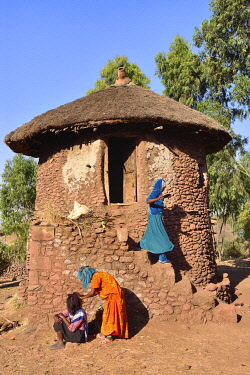 HMS3611609 Ethiopia, Lalibela, World Heritage Site, Tukul, traditional round house