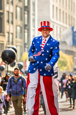 USA14832AW Uncle Sam, Veterans Day Parade, Fifth Avenue, Manhattan, New York, US