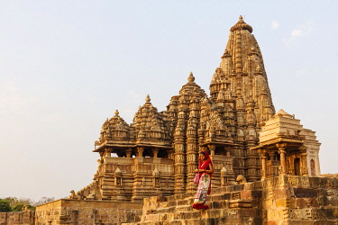 HMS3327099 India, Madhya Pradesh, Khajuraho, monuments listed as World Heritage by UNESCO, Kandariya Mahadeva temple