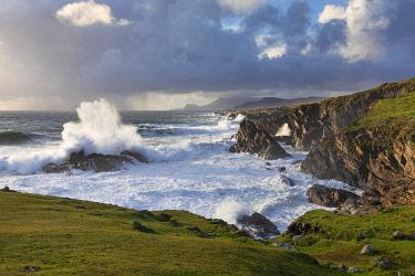 IRL1013AWRF Stormy weather in Western Achill Island, Achill Island, County Mayo, Connacht province, Republic of Ireland