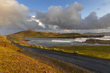 IRL1027AW Coastal road in Western Achill Island, Achill Island, County Mayo, Connacht province, Republic of Ireland