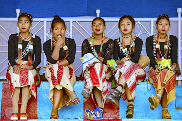 HMS3414406 India, Arunachal Pradesh, Khonsa, the Chalo Loku festival of the Nokte tribe