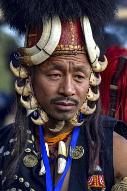 HMS3414718 India, Nagaland, Kohima, annual meeting of all the Naga tribes during the Hornbill Festival