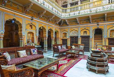 HMS3429097 India, Rajasthan, Shekhawati region, Mandawa, Rhadika Haveli hotel