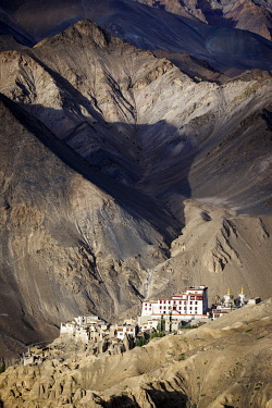 India, state of Jammu and Kashmir, Himalaya, Ladakh, Lamayuru Gompa (monastery) (3510m) of the Kagyupa Order