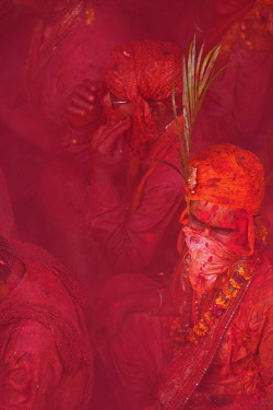 HMS3530275 India, Uttar Pradesh, Holi festival, Colour and spring festival celebrating the love between Krishna and Radha