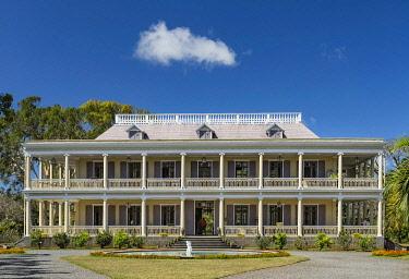 HMS3384869 Mauritius, Riviere du Rempart disctrict, Mapou, Labourdonnais castle, colonial architecture area of the 19th century