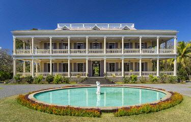 HMS3384870 Mauritius, Riviere du Rempart disctrict, Mapou, Labourdonnais castle, colonial architecture area of the 19th century