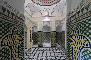 HMS3417365 Morocco, High Atlas, Marrakesh, Imperial City, medina listed as World Heritage by UNESCO, Museum of Confluences Dar El Bacha, Hammam