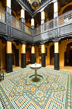 HMS3417463 Morocco, High Atlas, Marrakech, Imperial city, medina listed as World Heritage by UNESCO, Kasbah district, Luxury Hotel La Sultana (5 stars)