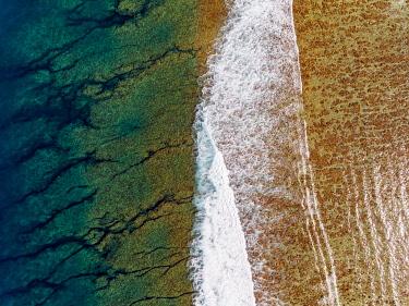 HMS3202047 France, Reunion island, Saint Gilles Les Bains, Ermitage lagoon (aerial view)