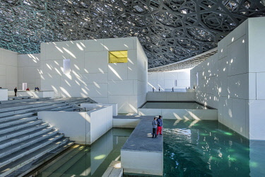 HMS3243486 United Arab Emirates, Abu Dhabi, Saadiyat island, the Louvre Abu Dhabi is the first universal museum in the Arab world designed and built by French architect Jean Nouvel