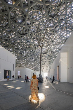 HMS3243493 United Arab Emirates, Abu Dhabi, Saadiyat island, the Louvre Abu Dhabi is the first universal museum in the Arab world designed and built by French architect Jean Nouvel