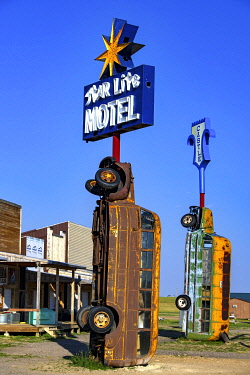 HMS3414900 United States, South Dakota, Sturgis, the Full Throttle Saloon is the world largest biker's bar