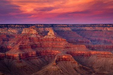USA15028AWRF Grand Canyon at sunset, Yavapai Point, Grand Canyon National Park, Arizona, USA