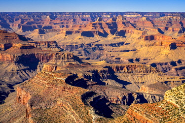 USA15029AWRF Idyllic shot of Grand Canyon and Colorado River on sunny day, Lipan Point, Grand Canyon National Park, Arizona, USA