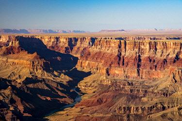 USA15030AWRF Idyllic shot of Grand Canyon and Colorado River on sunny day, Lipan Point, Grand Canyon National Park, Arizona, USA