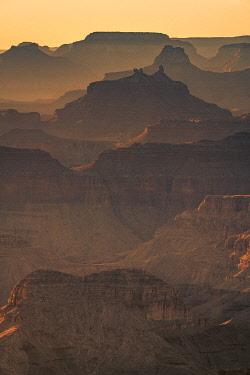 USA15032AWRF Layers of Grand Canyon at sunset, Lipan Point, Grand Canyon National Park, Arizona, USA