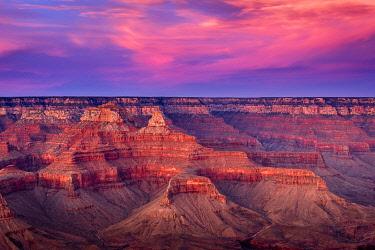 USA14979AW Scenic view of Grand Canyon at sunset, Yavapai Point, Grand Canyon National Park, Arizona, USA